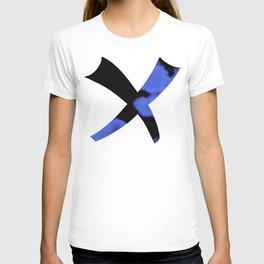 Blue Violet And Black T-shirt