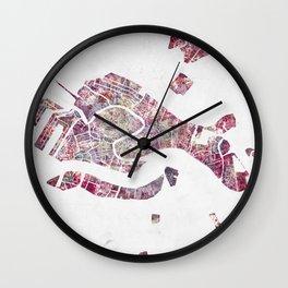 Venice map Wall Clock