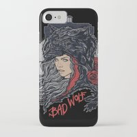 bad wolf iPhone & iPod Cases featuring Bad Wolf by zerobriant
