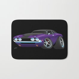 Classic Muscle Car Cartoon Bath Mat