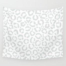 Elegant White Gray Leopard Cheetah Animal Print Wall Tapestry