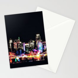 Zilker Park Trail Of Lights - Graphic 2 Stationery Cards