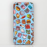 misfits iPhone & iPod Skins featuring Enfu Whimsical Misfits Pattern by enfu