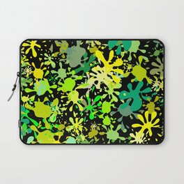 Green Ink Blots and Stains Laptop Sleeve