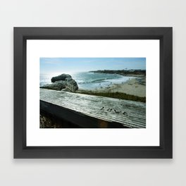Love is All You Need and the Beach Framed Art Print