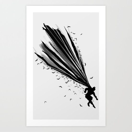 A Dark Knight Art Print