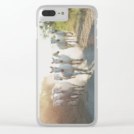 Camargue Horses XIII Clear iPhone Case