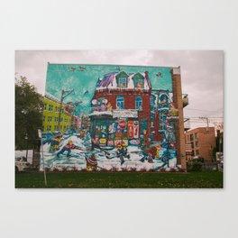 Street Hockey Mural Canvas Print