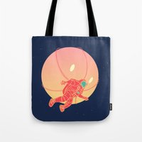 astronaut Tote Bags featuring Astronaut by chyworks