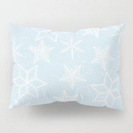 Snowflakes on light blue background Pillow Sham