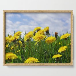 Dandelion meadow Serving Tray