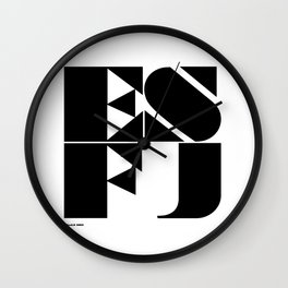 Type Type for ESFJ Wall Clock