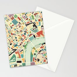 CITY OF LONDON MAP ART 01 Stationery Cards