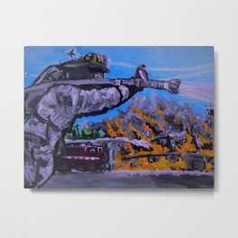 Air Force Fire Fighter Metal Print