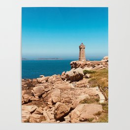 Sunny day and pink granite Poster