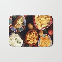 Potato Foods Bath Mat