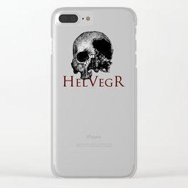 Helvegr Skull Clear iPhone Case