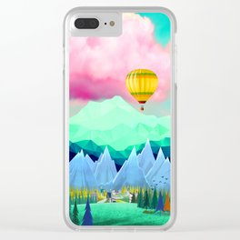 LETS GET HIGH Clear iPhone Case