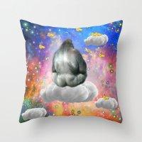 gorilla Throw Pillows featuring Gorilla by haroulita