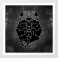 Scorpion Vignette Art Print