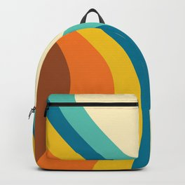 Retro Rainbow Swirl Backpack