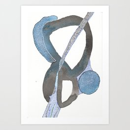 And You Also Abstract Watercolor Art Print
