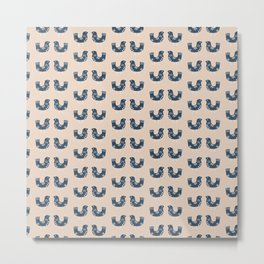birds pattern / milk tea beige Metal Print