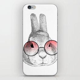 rabbit's glasses iPhone Skin