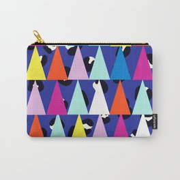 Triangle Animal Print in Royal Blue Carry-All Pouch