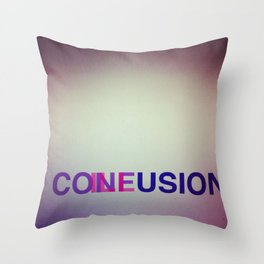 CONFUSION ILLUSION Throw Pillow