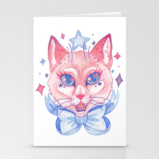 Kawaii Kitty Stationery Cards