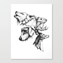 Moony Wormtail Padfoot Prongs Canvas Print