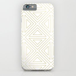 Angled White Gold iPhone Case