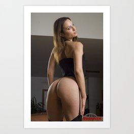 Retro Nude Art Print