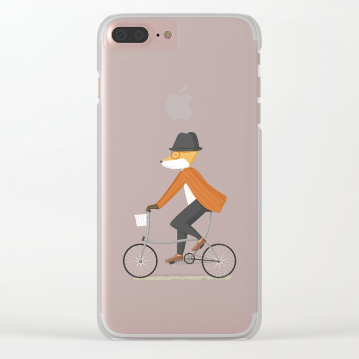 Mr. Fox is on His Way Clear iPhone Case