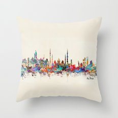Abu Dhabi skyline Throw Pillow