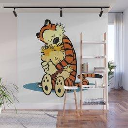 Calvin Hugs Hobbes Wall Mural