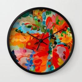 color bubble storm Wall Clock