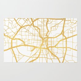 SAN ANTONIO TEXAS CITY STREET MAP ART Rug