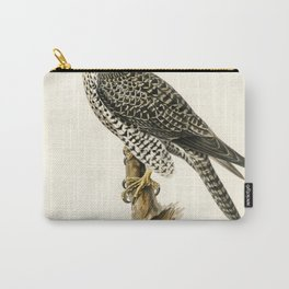 Gyrfalcon Gyr Falcon male (Falco rusticolus) illustrated by the von Wright brothers Carry-All Pouch