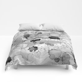 Design 117 Greyscale Abstract Comforters