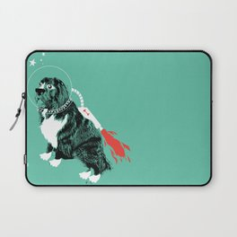 A Flying Dog In Outer Space Laptop Sleeve