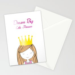 Dream Big Little Princess Stationery Cards