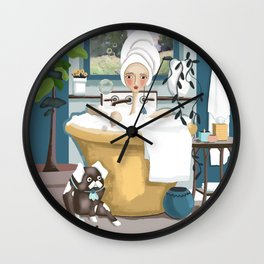 In the Tub Wall Clock
