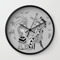 spiritual Wall Clocks featuring Spiritual Beginning by Astrablink7