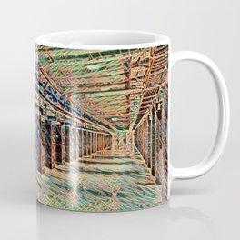 Sweden Luleå Facebook Data Center Artistic Illustration Wire Style Coffee Mug
