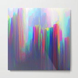 Technicolor Rain Metal Print