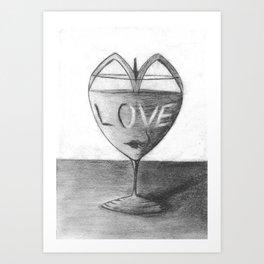 Glass of love Art Print