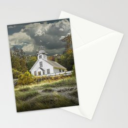 Old Mission Point Lighthouse in Early Autumn Stationery Cards