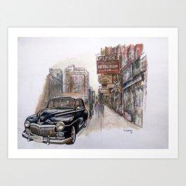 Black car Art Print